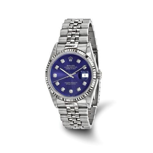 Datejust - 36 mm, Oystersteel & 18K White Gold, Blue Dial (Certified Pre-Owned) - Ring Concierge