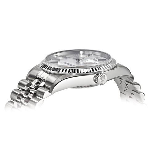 Datejust - 36 mm, Oystersteel & 18K White Gold (Certified Pre-Owned) - Ring Concierge