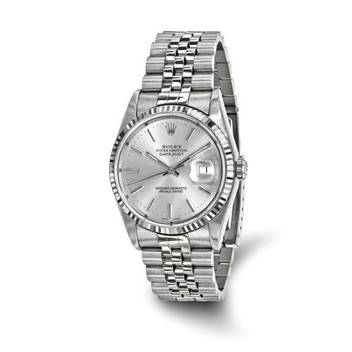 Datejust - 36 mm, Oystersteel & 18K White Gold (Pre-Owned) - Ring Concierge