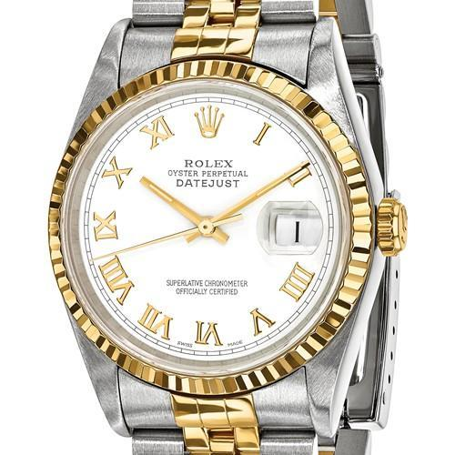 Rolex Datejust - 36 mm, Oystersteel & 18K Yellow Gold, White Dial (Pre-Owned) - Ring Concierge