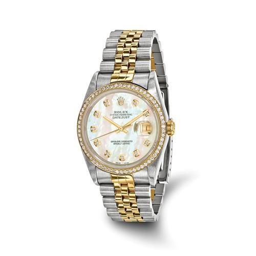 Rolex Datejust - 36 mm, Oystersteel & 18K Yellow Gold, Pearl Dial (Pre-Owned) - Ring Concierge