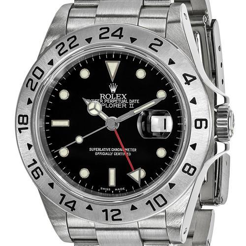 Rolex Explorer II - 40mm, Black Dial, Oystersteel (Pre-Owned) - Ring Concierge