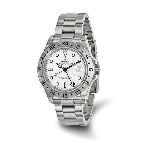 Explorer II - 40mm, White Dial, Oystersteel (Pre-Owned) - Ring Concierge