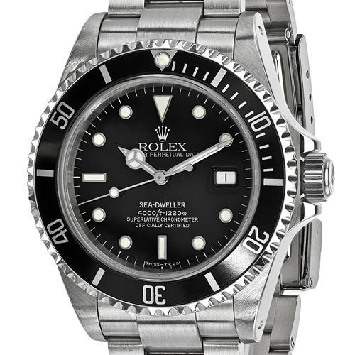 Rolex Mens Watches Sea Dweller - 40mm, Black Dial, Oystersteel (Certified Pre-Owned)
