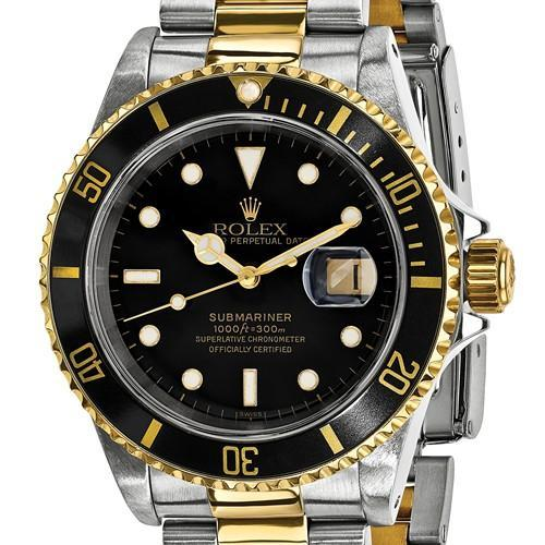 Rolex Mens Watches Submariner - 40mm, Black Dial, 18K Gold & Oystersteel (Certified Pre-Owned)