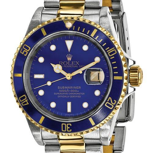 Rolex Mens Watches Submariner - 40mm, Blue Dial, 18K Gold & Oystersteel (Certified Pre-Owned)
