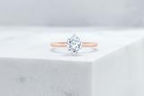 Vow Vow Engagement Rings Antique-Style Cushion / 14K Rose Gold + Platinum Prongs / Original Design Lenox