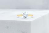 Vow Vow Engagement Rings Antique-Style Cushion / 14K Yellow Gold + Platinum Prongs / Original Design Lenox