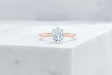 Vow Vow Engagement Rings Cushion / 14K Rose Gold + Platinum Prongs / Original Design Lenox