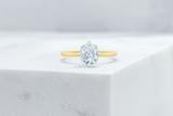 Vow Vow Engagement Rings Cushion / 14K Yellow Gold + Platinum Prongs / Original Design Lenox