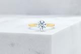 Vow Vow Engagement Rings Round / 14K Yellow Gold + Platinum Prongs / Original Design Lenox