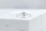 Vow Vow Engagement Rings Round / Platinum / Original Design Lenox