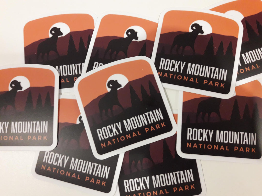 Rocky Mountain National Park Weatherproof Sticker