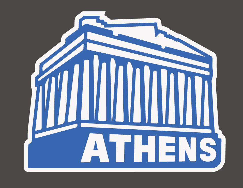 Athens Greece Travel Sticker