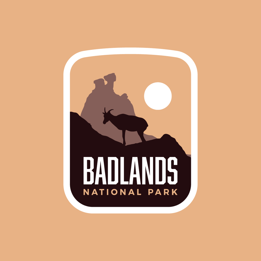 Badlands National Park Weatherproof Sticker