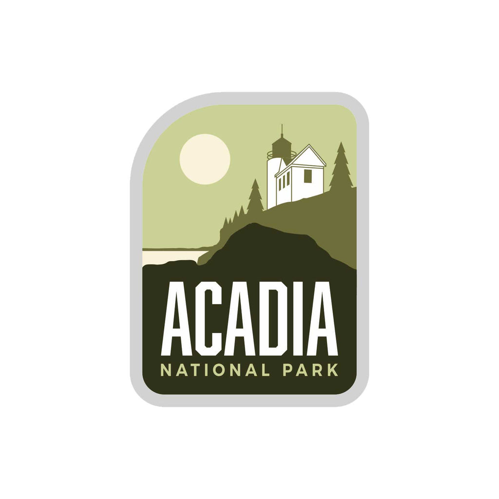 Acadia National Park Weatherproof Sticker