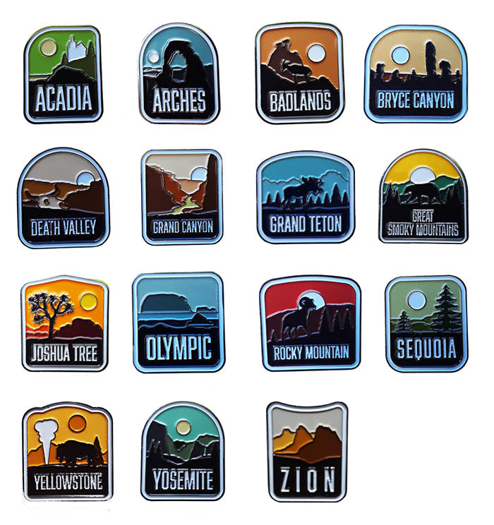 Acadia National Park Enamel Pin
