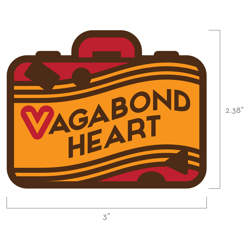 Vagabond Heart Wanderer Travel Patch