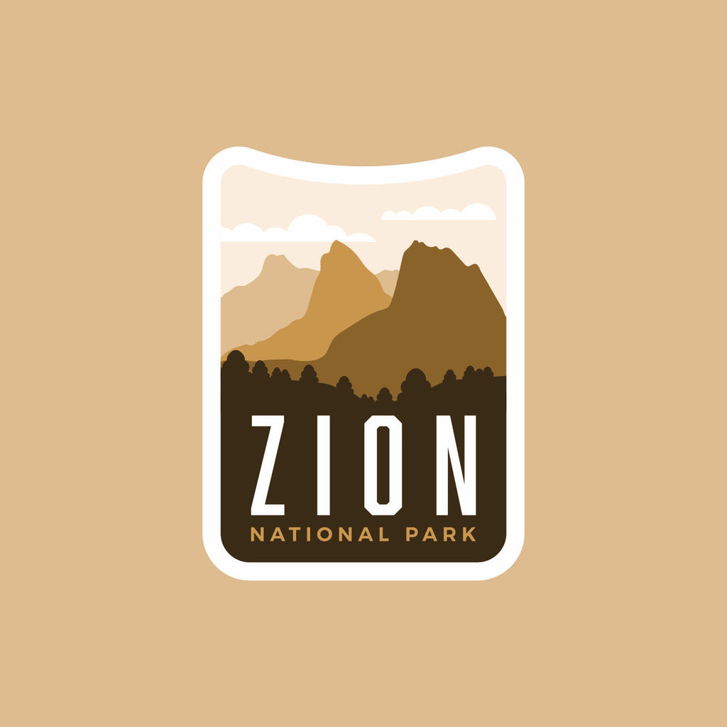 Zion National Park Weatherproof Sticker