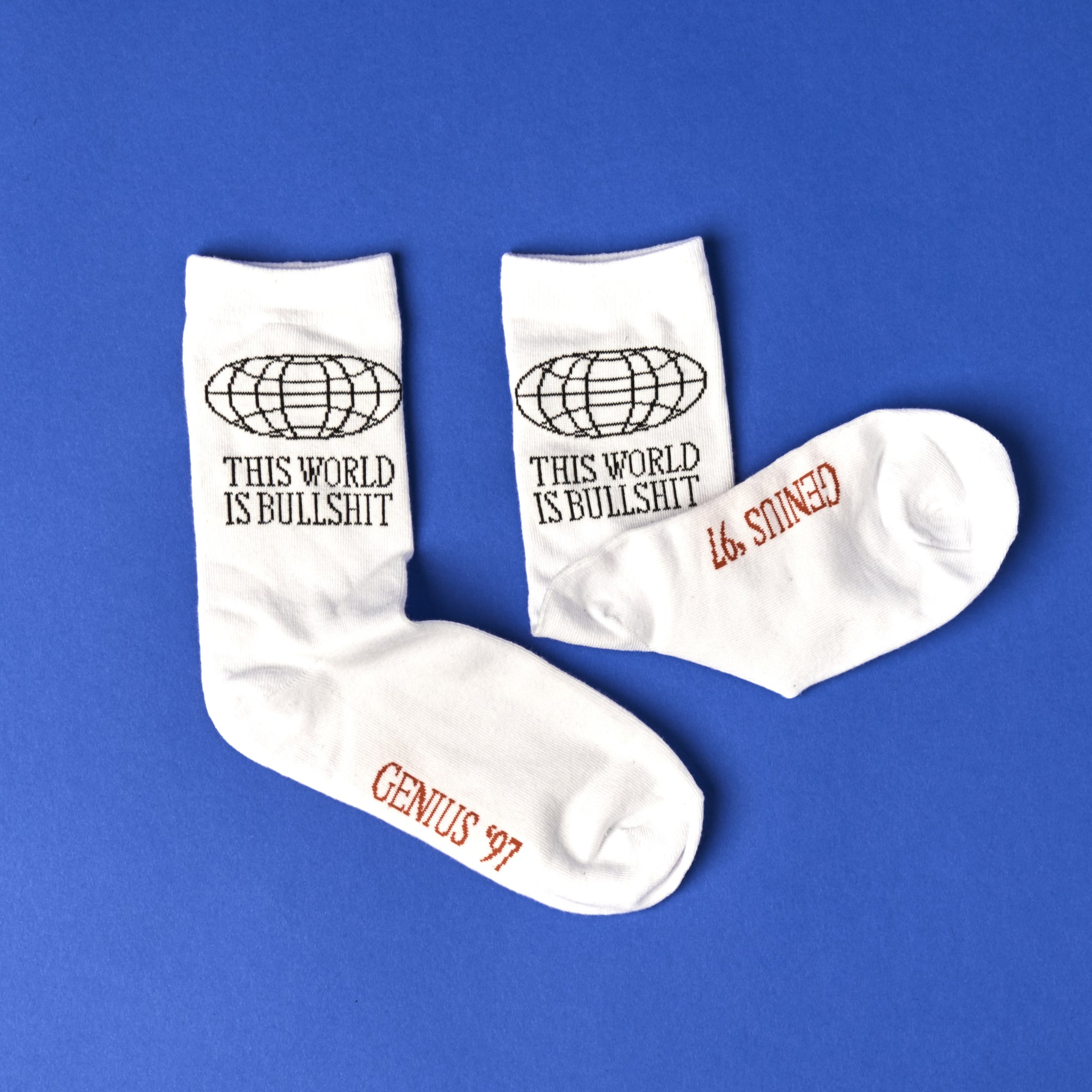 This World Is Bullshit Socks - White