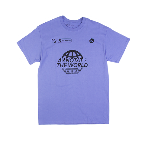 Annotate the World Tee in Periwinkle