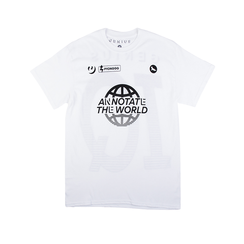 Annotate the World Tee in White