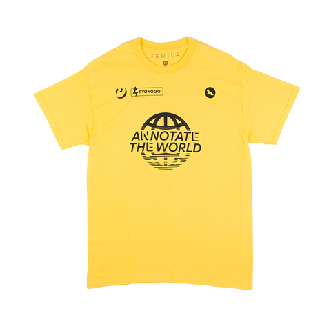 Annotate the World Tee in Yellow