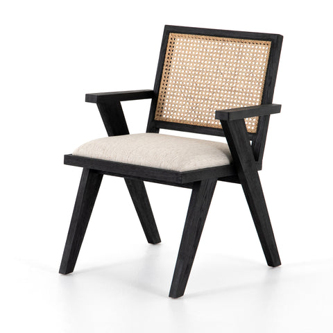 Flora Dining Chair-Drifted Matte Black