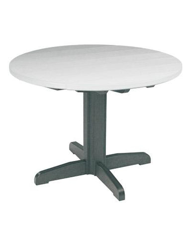 "CR Plastic products 40"" Pedestal Dining Table"