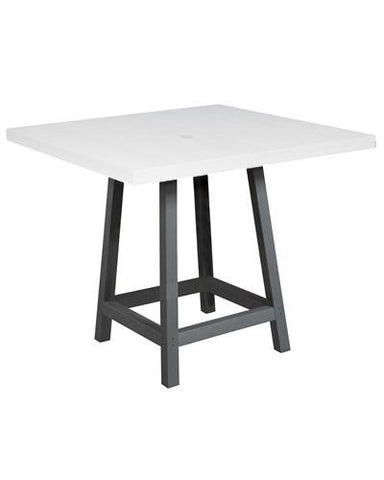 "CR Plastic products 40"" Square Pub Table"