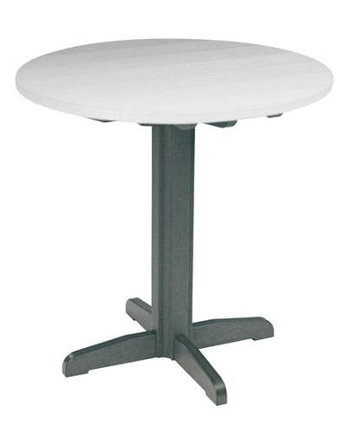 "CR Plastic products 40"" Pedestal Pub Table"