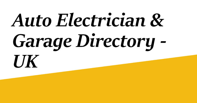 Auto Electrician & Garage Directory - UK