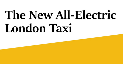 the new electric london taxi van