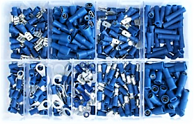 Assorted Blue Electrical Terminals