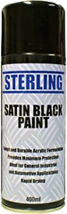 black satin spray paint