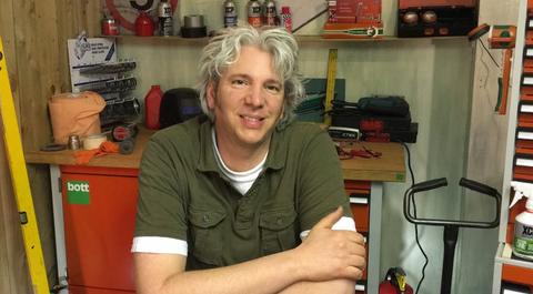 Edd China in the workshop