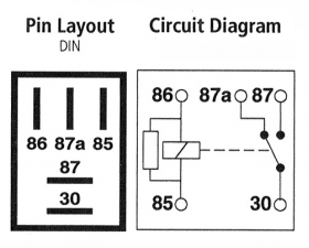 micro relay 5 pin, electrical drawing