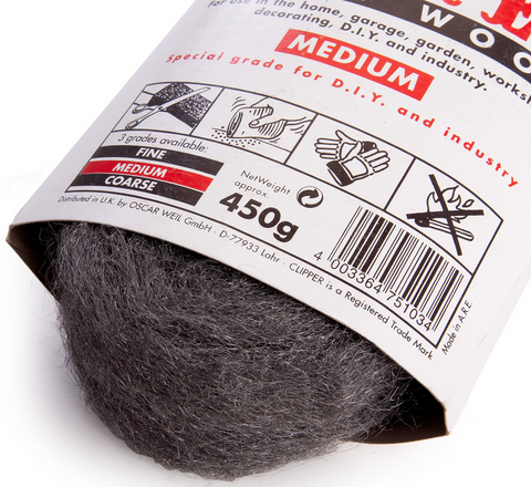 medium steel wool abrasive