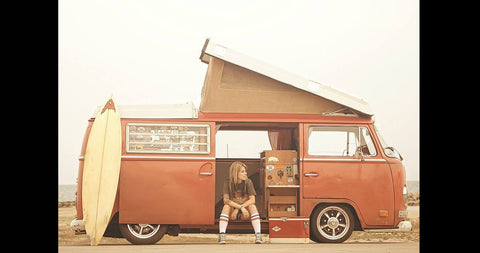 retro vw camper van
