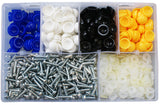 Assorted Number Plate Screws - Dome Type