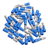 packet of blue bullet electrical terminals