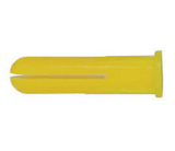 Plastic Masonry Plugs 5.0mm Yellow