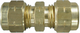 Brass Tube Coupling 5/16 (5)