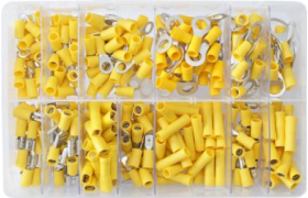 assorted yellow electrical terminals
