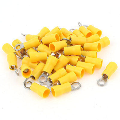 pack of 10.5mm yellow electrical ring terminals