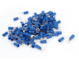 packet of 6.4mm blue fork electrical terminal connectors