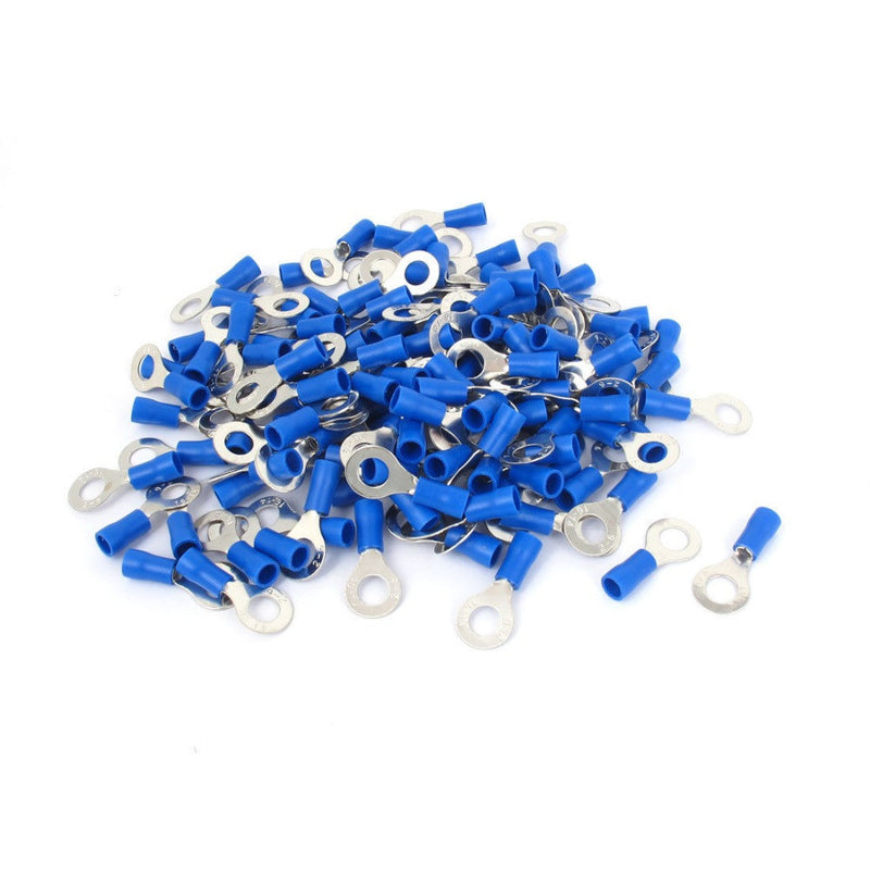 pack of 100 10.5mm blue ring terminals