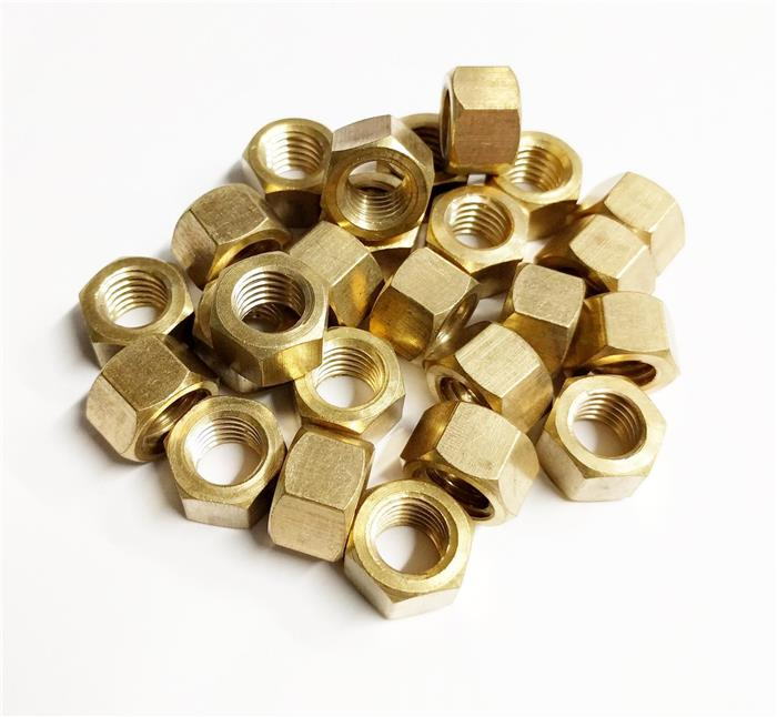 bag of brass exhaust manifold nuts m10