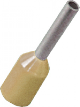 beige cord end electrical connector