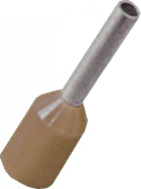 brown cord end electrical terminal